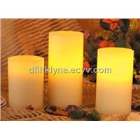 Led Ivory pillar candle
