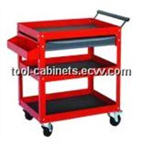 3 Shelves Tool Cart with 1 Drawer Tool Cabinet