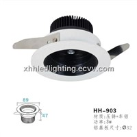 5w 7w 3w led ceiling light fixture piano black