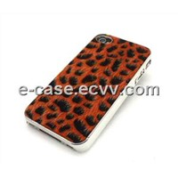 Crystal Mobile Phone Cover for iPhone 4s, with Leopard Line Pattern Design