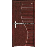 Fire Rated Steel Wooden Armored Security Door (A257)