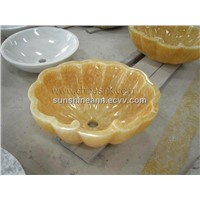 Honey onyx bathroom sink