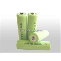 NI-MH AA 2000mAh 1.2V Battery rechargeable