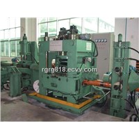 Two roll precision straightening tumbler unit