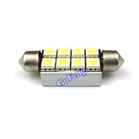12V Door Light Canbus White Festoon LED Lights with 8 SMD / 5050 SMD