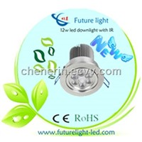 12w dimmable led down light with infrared motion sensor