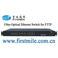24 Ports Fiber Optic Ethernet Switch for FTTP