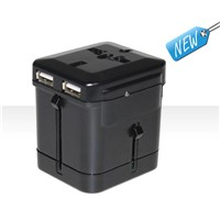 2.1A Dual USB All-in-One Travel Adapter