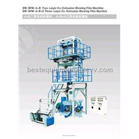 2-layer co-extrusion blowing film machine, HDPE, LDPE, LLDPE extrusion blow machine, film extruder