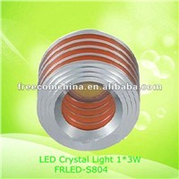 3W LED Crystal Light Aluminium Shell