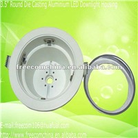 "3.5"" Round White Paint Die Casting Aluminium LED Downlight Housing"