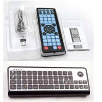 3 in 1 machine of Keyboard, laser trackball mouse and Infrared remote control