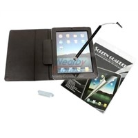 4 Accessory Bundle Kit For Apple Ipad 2 Case+LCD+Stylus+Cap