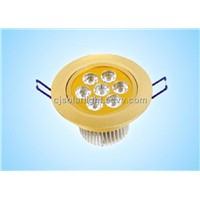 7W LED Ceiling Light, Aluminum and Lens Housing, AC85-265V(CJ-I010)