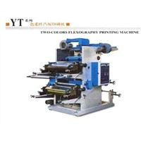 8kw, 10kw 2.38mm plate thickness Two-colours flexography printing machine