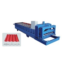 995 automatic hydraulic cold steel sheet glazed tiles roll forming machine in China