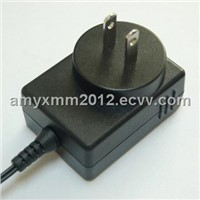 AC/DC adapters with 18W output power and UL/CUL/PSE/FCC safety approvals