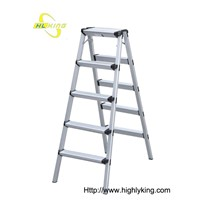 Aluminium folding Double side step ladder(HD-105)