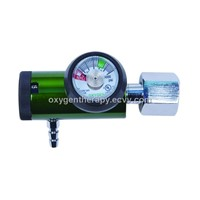 (Barb Outlet)Mini Click-style CGA540 type Aluminum Medical Regulator for Oxygen Cylinders.