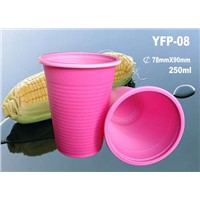 Biodegradable Dispodable Cornstarch Plastic 8 Oz Coffee Cup (YFP-08)