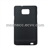 Black Matte Case for Samsung I9100, Eco-friendly PC, Injected Leather Oil