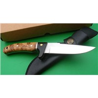 Buck Outdoor Knife Rocky Mountain Elk Foundation, Burl Wood Handle
