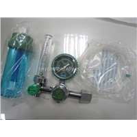CE Approved Medical Oxygen Regulator connecting O2 Cylinders