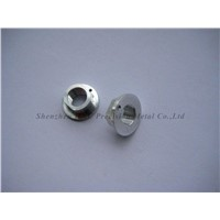 CNC machining thread nuts with hole and zn-plated also milling