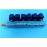 CNG NGV component injection rail 6cylinders