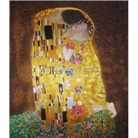 Chinese handmade silk embroidery art painting The Kiss