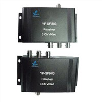 Coaxial Cable Transmission Video Transceiver with 3CH Video/Audio Transmission for Monitor System