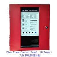 8 Zones Conventional Fire Alarm Control Panel Master Panel Alarm Host for Fire Security System