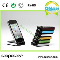 Desktop stand design portable battery charger for iPhone/iPod