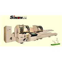 Double-head precision cutting saw CNC for aluminum profiles