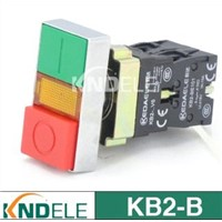 Double push button switch with light,direct type B2-BW