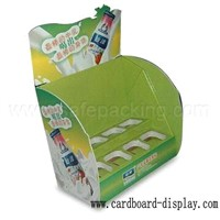 Drinks cardboard counter showing rack