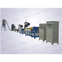 Dry double-stage plastic granulator
