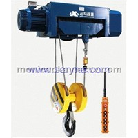 Dual speed hoist and trolley