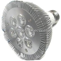E27 base Dimmable PAR30 7X1 Watt High Power LED SpotLights Pure White