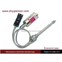 Economic melt pressure transmitter