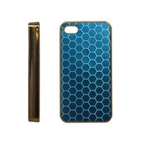Electronic Plating Case with Snake Skin Pattern, Suitable for iPhone 4/4S, Durable and Fashionable