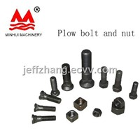 Excavator plow bolt and nut M14-M24