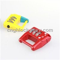 GH-8008 3 Coded promotional combination lock password metal padlock