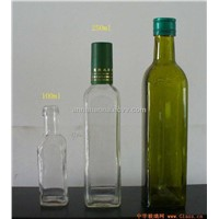 Green Olive Oil Bottle