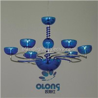 Home Hanging Pendant Lamp in Blue and Acrylic Shape, Various Designs are Available