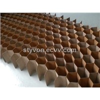 Honeycomb paper core