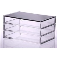 Multideck Acrylic Cosmetic Organizer and Box