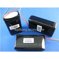 Ly-on Li-po battery pack,7.4V 2000mAh, as backup battery in the portable device