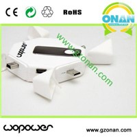 Multiple connectors with 1000mAh lithium polymer battery charger for Smartphone