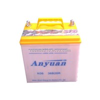 12V36Ah High Performance Lead Acid Dry Charged Automotive Battery